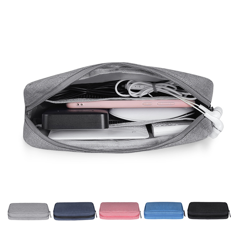 Travel Digital Accessories Storage Bag Portable USB Cable Earphone Organizer Makeup Cover Storage Gadget Devices Pouch