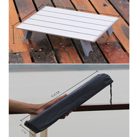 Lightweight Outdoor Aluminium Alloy Folding Table Camping Picnic Bbq Accessories With Carrying Bag