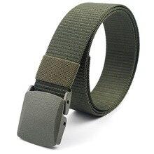 Военные мужские ремни, армейские ремни, регулируемый ремень для мужчин, для улицы, для путешествий, тактический поясной ремень с пластиковой пряжкой для брюк 120 см