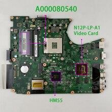 Kolor zielony A000080540 DABLGDMB8D0 w N12P LP A1 GPU dla Toshiba Satellite L750 L755 Notebook PC Laptop płyta główna płyta główna