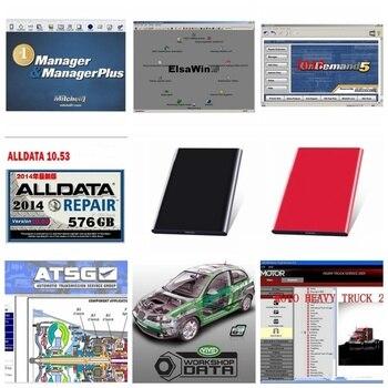 2020 hot Alldata Mitchell Software AutoData 3.38+mitchell on demand 2015+All data 10.53+ElsaWin+Vivid+atsg 24 in 1tb HDD USB 3.0