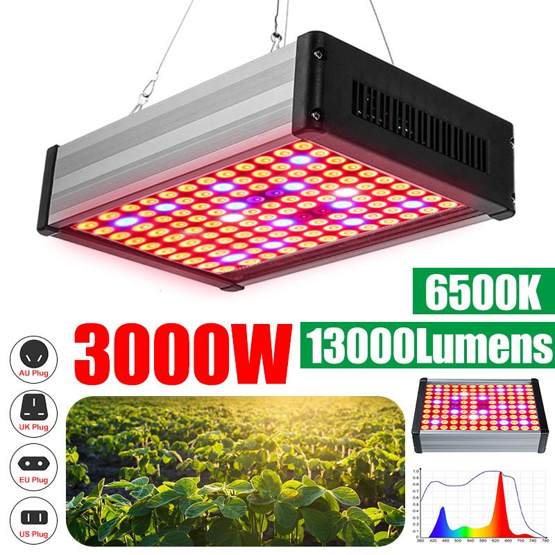 <font><b>3000W</b></font> Phyto Lamps <font><b>LED</b></font> <font><b>Grow</b></font> <font><b>Light</b></font> Full Spectrum Plant Lighting For Plants Flowers Seedling Cultivation image