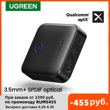 UGREEN Bluetooth 5.0 Transmitter Receiver APTX HD 2 in 1 Wireless Audio Adapter Digital Optical TOSLINK 3.5mm AUX Jack for TV PC