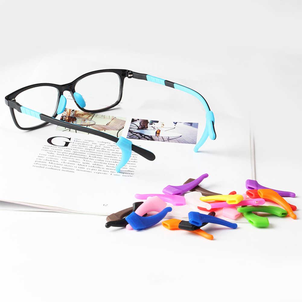 DIY Baru Anti Slip Ear Hook Kacamata Eyewear Aksesoris Kacamata Silikon Pegangan Candi Tip Holder Tontonan Kacamata Grip