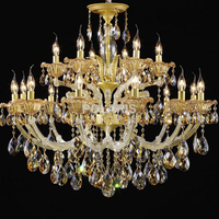 ZISIZ Large Big Luxury Classic Hotel Lobby Maria Theresa Crystal Chandeliers Hanging Lights Lighting Chandelier