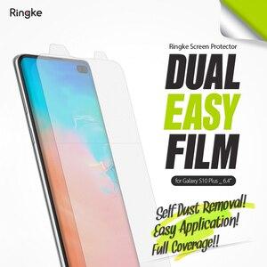 Image 2 - Ringke Screen Protector Dual Einfach Film für Galaxy S10 Plus Hohe Auflösung Einfache Anwendung Film [2 Pack]