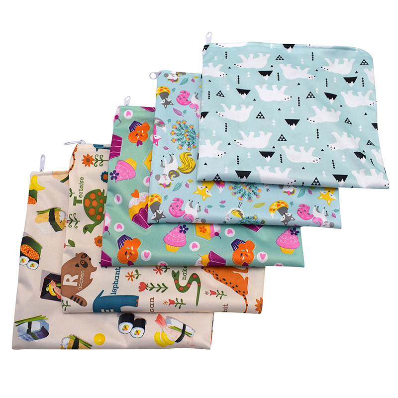 3pcs Reusable Snack Bag Waterproof Bread Sandwich Bag Pouch For School Camping