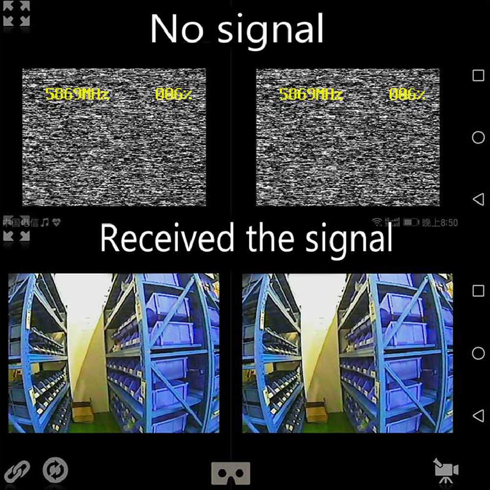 FPV Mini 5.8G OTG 150CH Mini récepteur UVC vidéo liaison descendante recherche automatique VR lunettes récepteur de téléphone Android pour Drone de course FPV