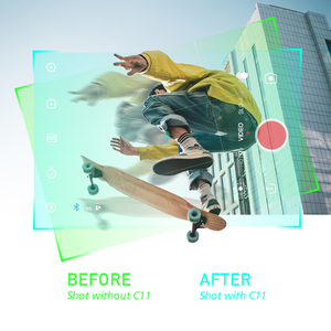Image 5 - ZHIYUN CINEPEER C11 cardan 3 axes Smartphone stabilisateur de poche Mobile pour iPhone / Samsung / Xiaomi Vlog / GoPro caméra daction