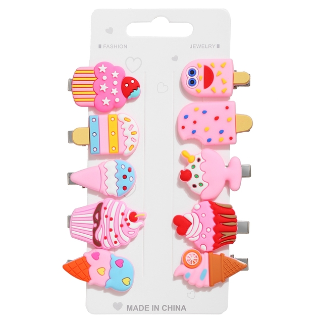 Baby Fruit Animal Hairpin Hair Accessories for Women Girls 5/8/10/12pcs/lot  Hair Clips & Pins Fashion Korean Barrettes Headband