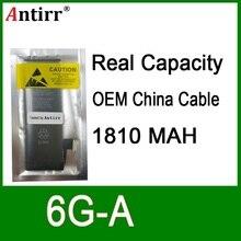 10 adet/grup Gerçek Kapasite Çin koruma levhası 1810mAh 3.7V Pil iPhone 6G için sıfır döngüsü yedek onarım parçaları 6G A