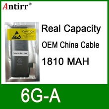 10 stks/partij Real Capaciteit China Bescherming boord 1810mAh 3.7V Batterij voor iPhone 6G zero cyclus vervanging reparatie onderdelen 6G A