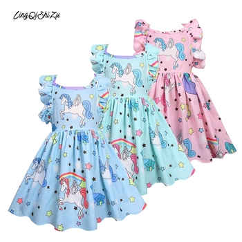Kids Princess Dress Casual Dress For Kids Dinosaur Princess Dress Children Summer Dress Kids Dresses For Girls Toddler Dresses image