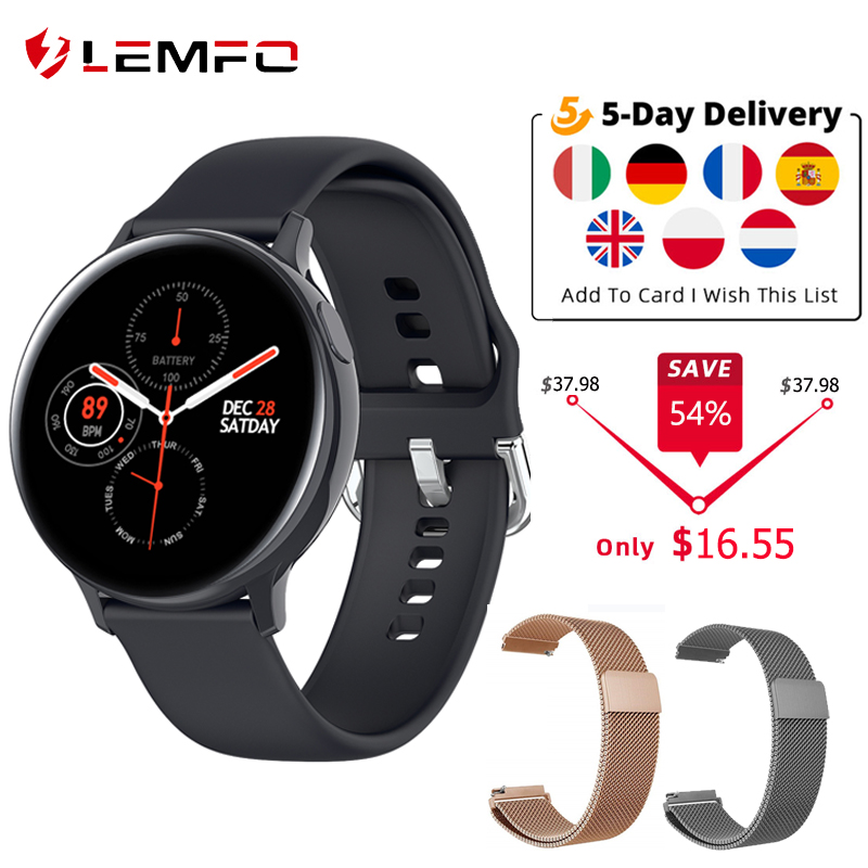 LEMFO S20 ECG Smart Watch Men Women IP68 Waterproof Heart Rate Blood Pressure Smartwatch Fitness Tracke for Xiaomi Samsung phone|Smart Watches| - AliExpress
