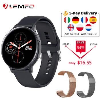 LEMFO S20 ECG Smart Watch Men Women IP68 Waterproof Heart Rate Blood Pressure Smartwatch Fitness Tracke for Xiaomi Samsung phone