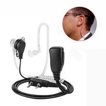 Fone de ouvido microfone ptt com 2 pinos, headset intra-auricular e acústico para kenwood tyt baofeng UV-5R BF-888S cb radio acessórios