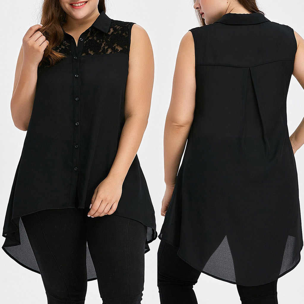 Plus Size Womens Tops and Blouses Vest