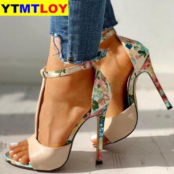 Sandals T-strap High Heels Chaussures Femme Sexy Stripper Shoes New Peep Toe Summer Female  Gladiator  1