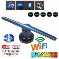 Reproductor de publicidad de holograma con pantalla de proyector holográfico con WiFi LED 3D