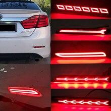 רכב מהבהב עבור טויוטה Innova 15 16 Venza 09 10 מטריקס 09 10 סיינה 13 15 RAV4 אחורי LED ערפל מנורת פגוש אור בלם רפלקטור
