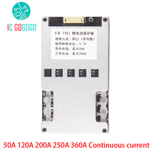 8S 24V Lifepo4 3.2V Lithium Battery Protection Board balance 50A 120A 200A 250A 360A Continuous BMS Electric Tool Energy Storage