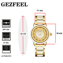 GEZFEEL Ladies Jade Mechanical Watch Stainless Steel Watches Waterproof Woman Wristwatch Factory Direct Sales Relojes Para Mujer