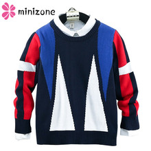 Children Sweater 2019 New Casual Knitting Pullover For Boys Shirt Collar Sweaters Kids Clothes Winter School Toddler Girls Top M vinnytido boys sweaters winter 2017 pullover sweater turn down collar children christmas sweaters kids