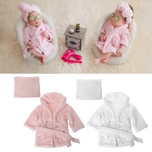 2018 Bathrobes Wrap Newborn Photography Props Baby Photo Shoot Robe