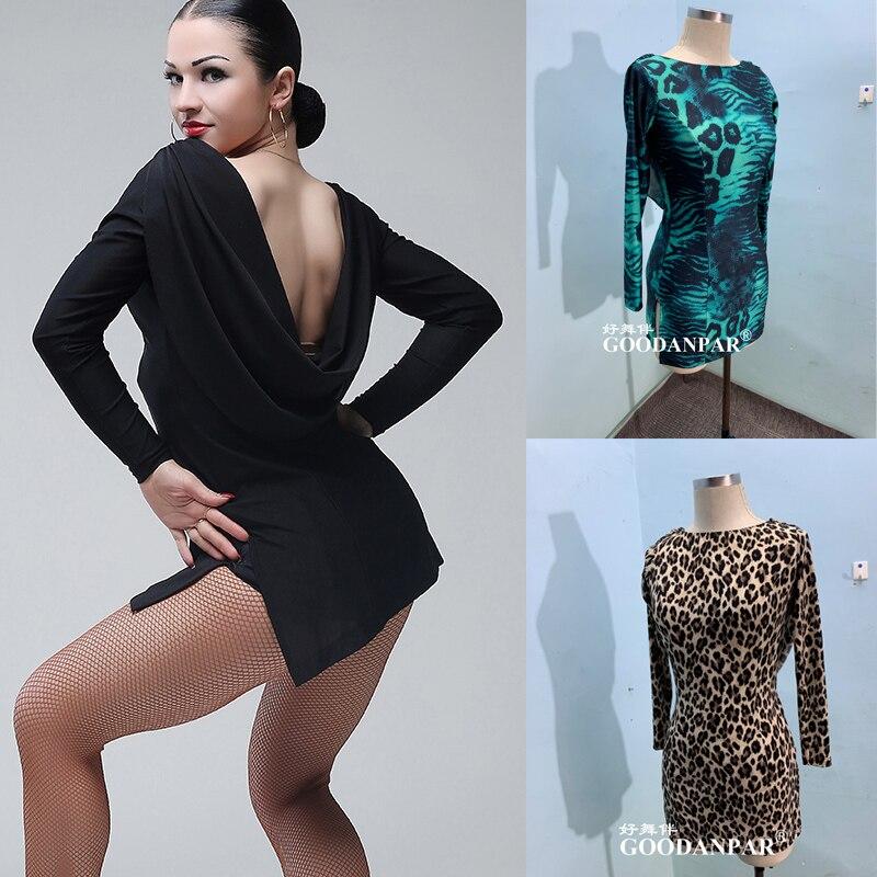 Sexy Women DanceTops Ballroom Modern Salsa Tango Samba Latin Training Black Latin Dance Training Clothing Clothing Top For Women