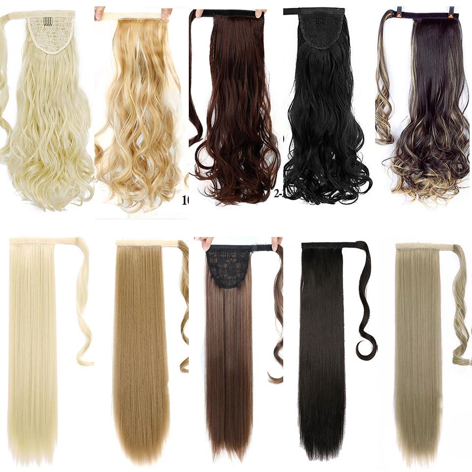 WTB длинные вьющиеся волосы, прямые волосы, парик для конского хвоста, термостойкие синтетические волосы, зажим для длинного хвоста, наращивание волос|Синтетические хвостики|   | АлиЭкспресс