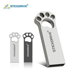 Hot sale Cat paw usb flash drive 8GB 16GB 32GB 64GB pen drive 128GB cle usb 32 GB pendrive flash usb stick for pc