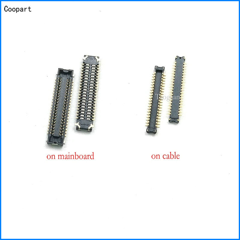 2pcs/lot Coopart New 40PIN LCD Display FPC Connector Port Plug On Mainboard/cable For Xiaomi Redmi Pro/ Redmi 8 8A Top Quality