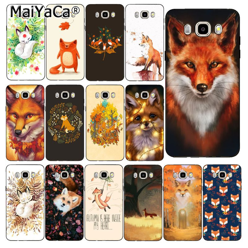 MaiYaCa Animal fox in the wild Autumn Phone <font><b>Case</b></font> Cover For <font><b>Samsung</b></font> Galaxy J7 J6 J8 J4 J4Plus J7 <font><b>DUO</b></font> J7NEO J2 J7 Prime image