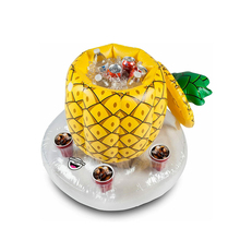 Pool-Cooler Float-Toys Cup-Holder Swimming-Ring Beer Drink Beach Inflatable for And Pineapple