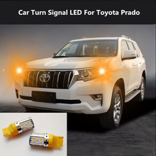 2PCS Car Turn Signal LED Command light headlight modification For Toyota Prado 2004-2018 12V 10W 6000K