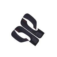 Suitable for Tesla model3 door anti kick pad door panel carbon fiber leather protective side film accessories decoration