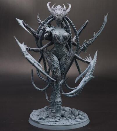 180mm Ancient Women Devil Model Kits   (WITH BIG BASE  ) Resin Figure Model Kits Miniature Gk Unassembly Unpainted