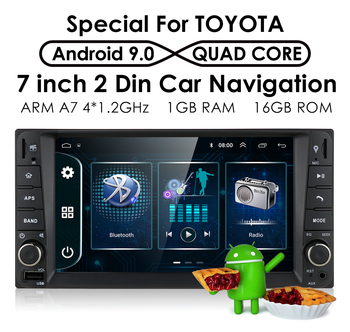 7 4Core Android 9.0 2Din Car Media GPS Player for Toyota RAV4 Corolla Camry Allion Hilux Fortuner Innova Prado RAV 4 Radio Navi image