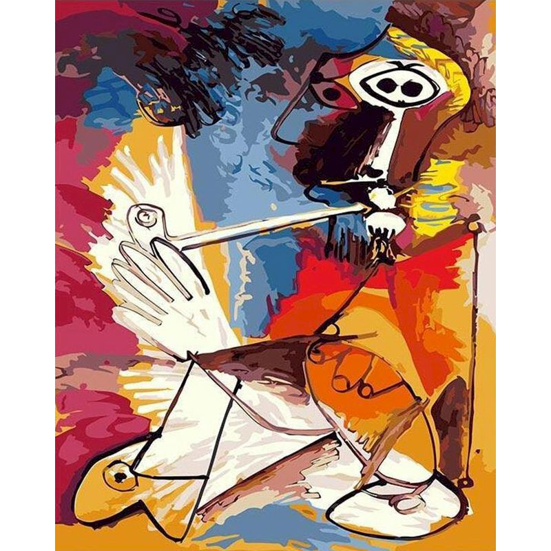 DIY Abstract Men Who Smoke Painting By Numbers Figure Canvas Wedding Decoration Art picture Gift for home decor Christmas-0