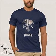 Camiseta masculina nova chegada legal legal impressão crânio 3d manga curta respirável camiseta de fitness topos