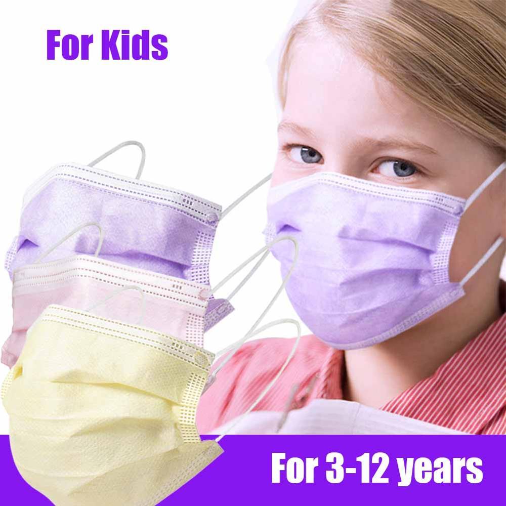 Детская маска одноразовые защитные маски для лица Антибактериальный пыле рот здоровья с эластичной резинкой для детей-маска 10/50/100 шт в нали...