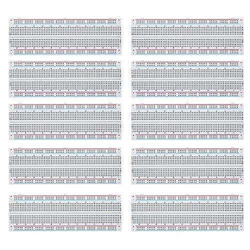 MCIGICM 10 шт. макетная плата 830 точечный прототип печатной платы без пайки Комплект печатной платы MB-102 для DIY комплект электроники