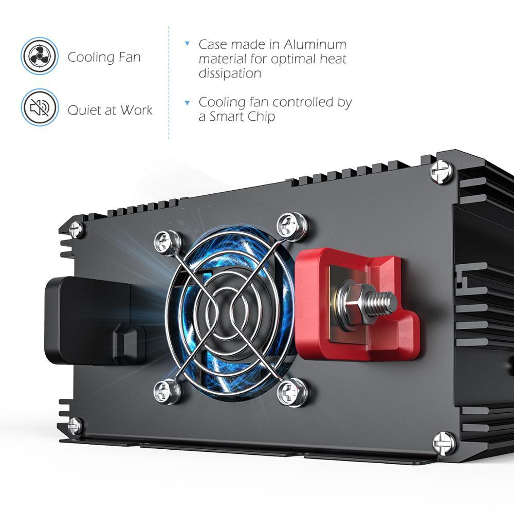 EDECOA reine sinus-wechselrichter 3500w DC 24v AC 220v 230v 7000w peak power solar inverter mit fernbedienung