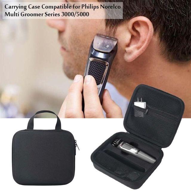 נשיאת ציפר פאוץ EVA נסיעות תיק לפיליפס Norelco Multigroom סדרת 3000/5000 חשמלי מכונת גילוח