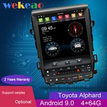 Wekeaoหน้าจอแนวตั้งTeslaสไตล์12.1 1 Din Android 9.0วิทยุนำทางGPSสำหรับToyota Alphard Car DVDผู้เล่น2007 2013