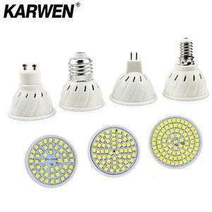 Image 2 - 10Pcs/Lot Lampada LED Bulb MR16 GU10 E27 E14 Bombillas LED Lamp 220V 240V 2835 SMD 48 60 80 LED Spotlight  Indoor Lightint