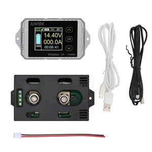 Ват1100 100 в 100A LCD Цифровой Беспроводной DC напряжение тока VA метр автомобильный аккумулятор монитор кулоновый счетчик ватт