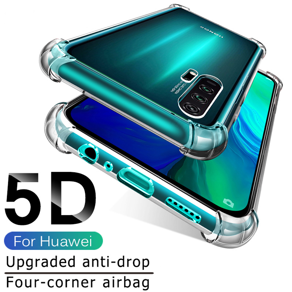 fitted silicone case for huawei P40 P30 P20 lite pro cover shockproof phone case bumpe luxury mobile phone accessories coque