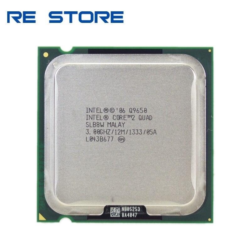 Intel processador quad q9650, processador intel core 2 quad q9650 3.0ghz 12mb cache fsb 1333 desktop lga 775 cpu