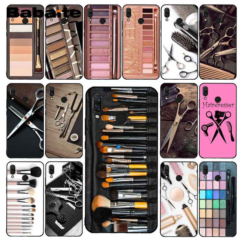 Babaite Naked Palette Mode Glam Make-Up Tool Haar Telefoon Case Voor Xiaomi Redmi4X 6A 9 Gaan Redmi 5 5Plus note4 Note5 7 Note6Pro